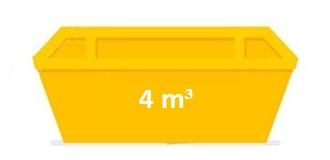 Контейнер за строителни отпадъци 4 кубика